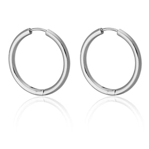 25MM ROUND HOOPS | Earrings | Tini Lux