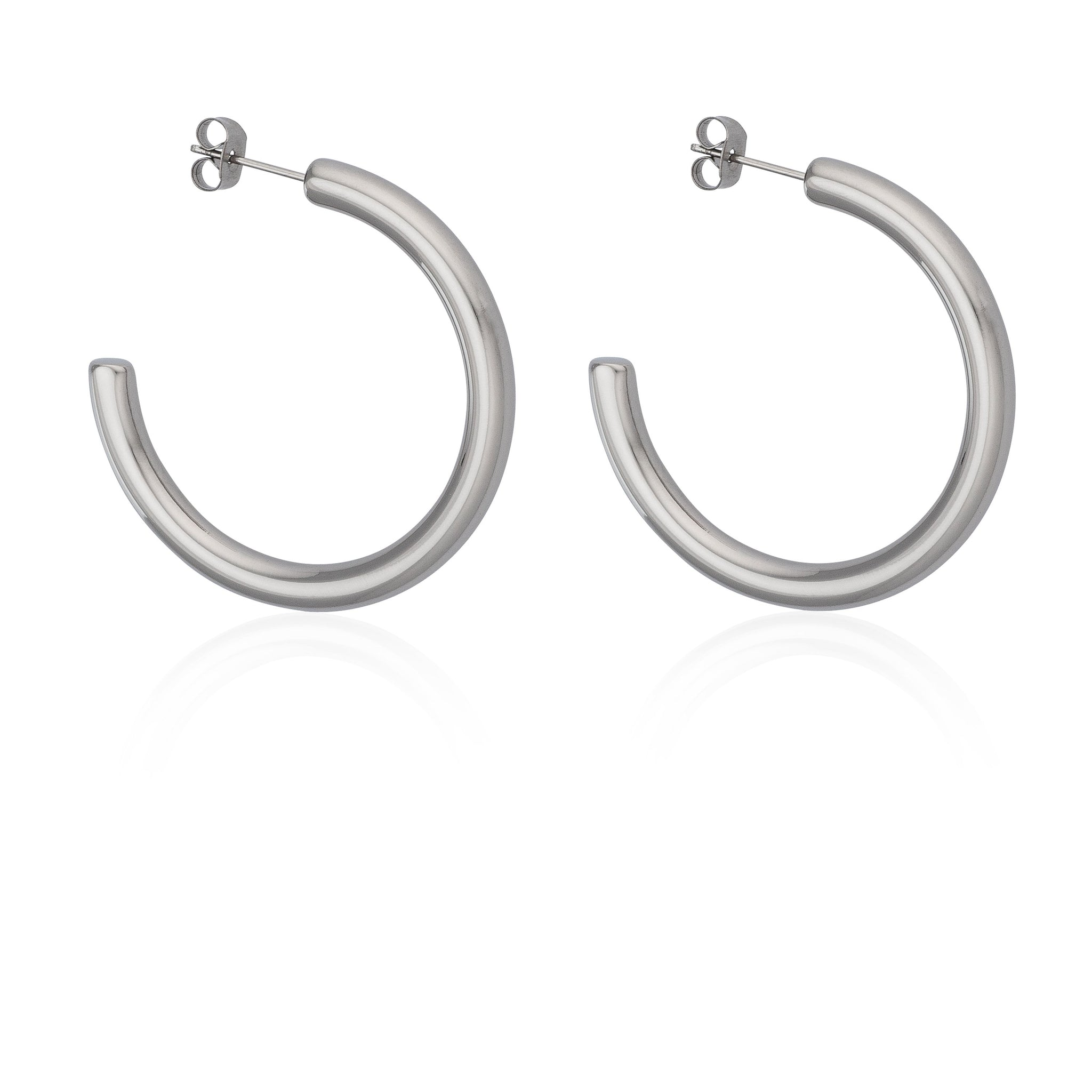 z_new_40MM THICK HOOPS | Earrings | Tini Lux