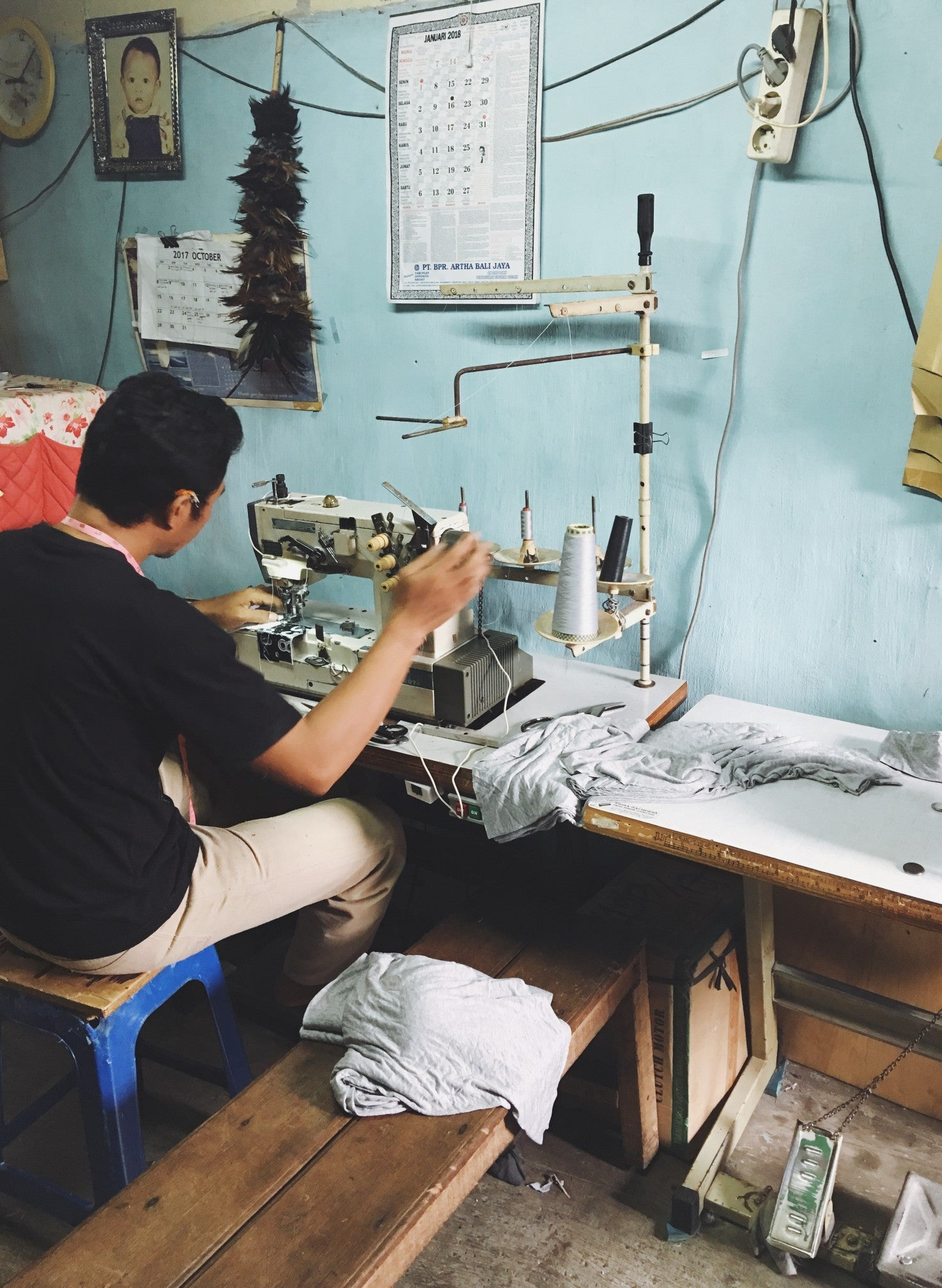 Clothes in the making in Bali