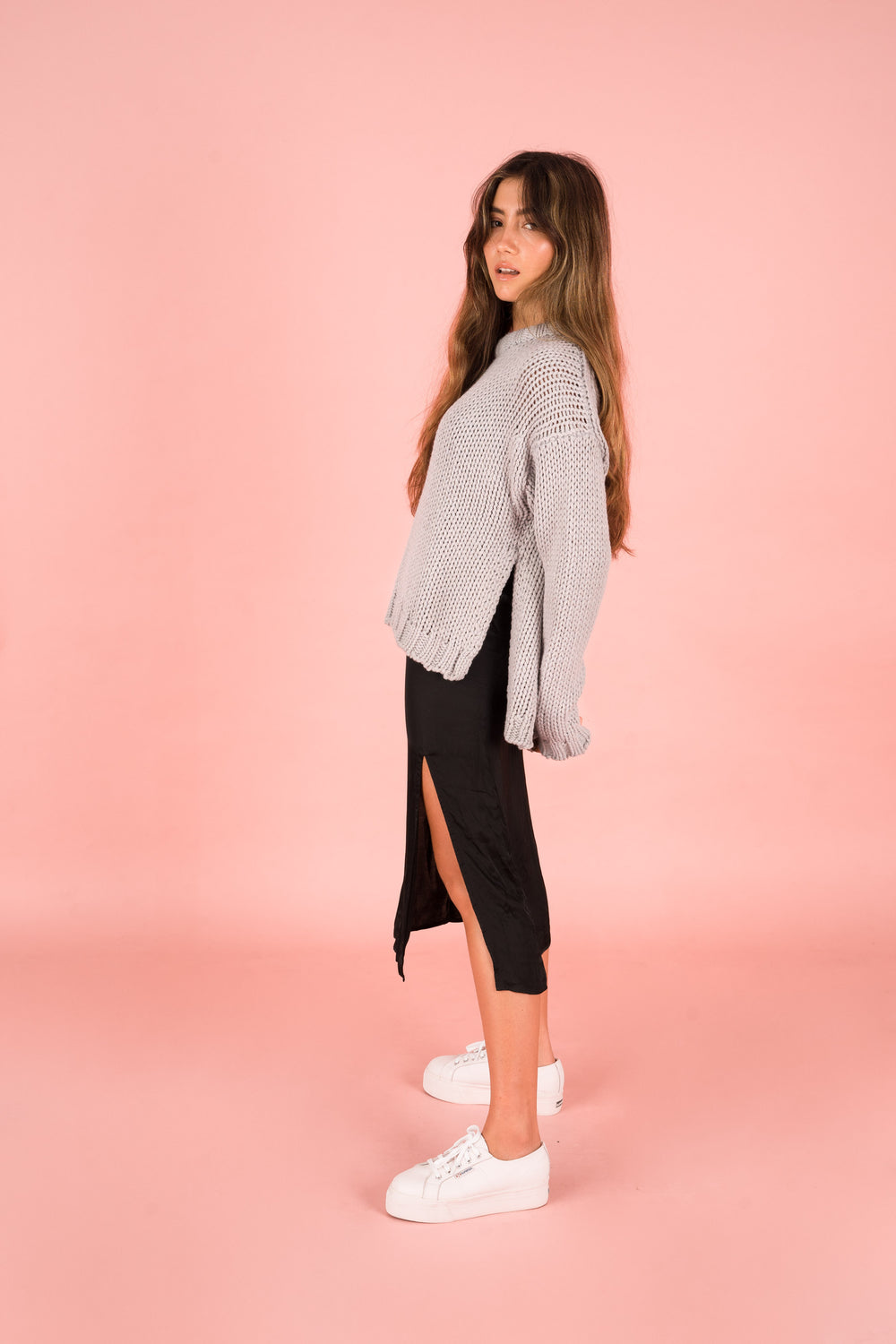 Crop Knit Grey