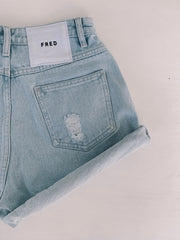 THE ROLL UP SHORTS | BLUE