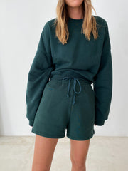 THE BASIC JOGGER SHORTS DARK GREEN