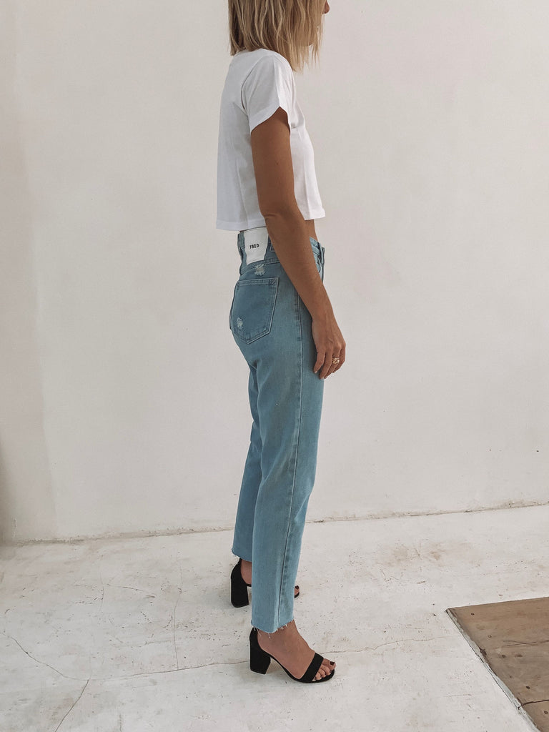 FRED MOM JEANS | BLUE