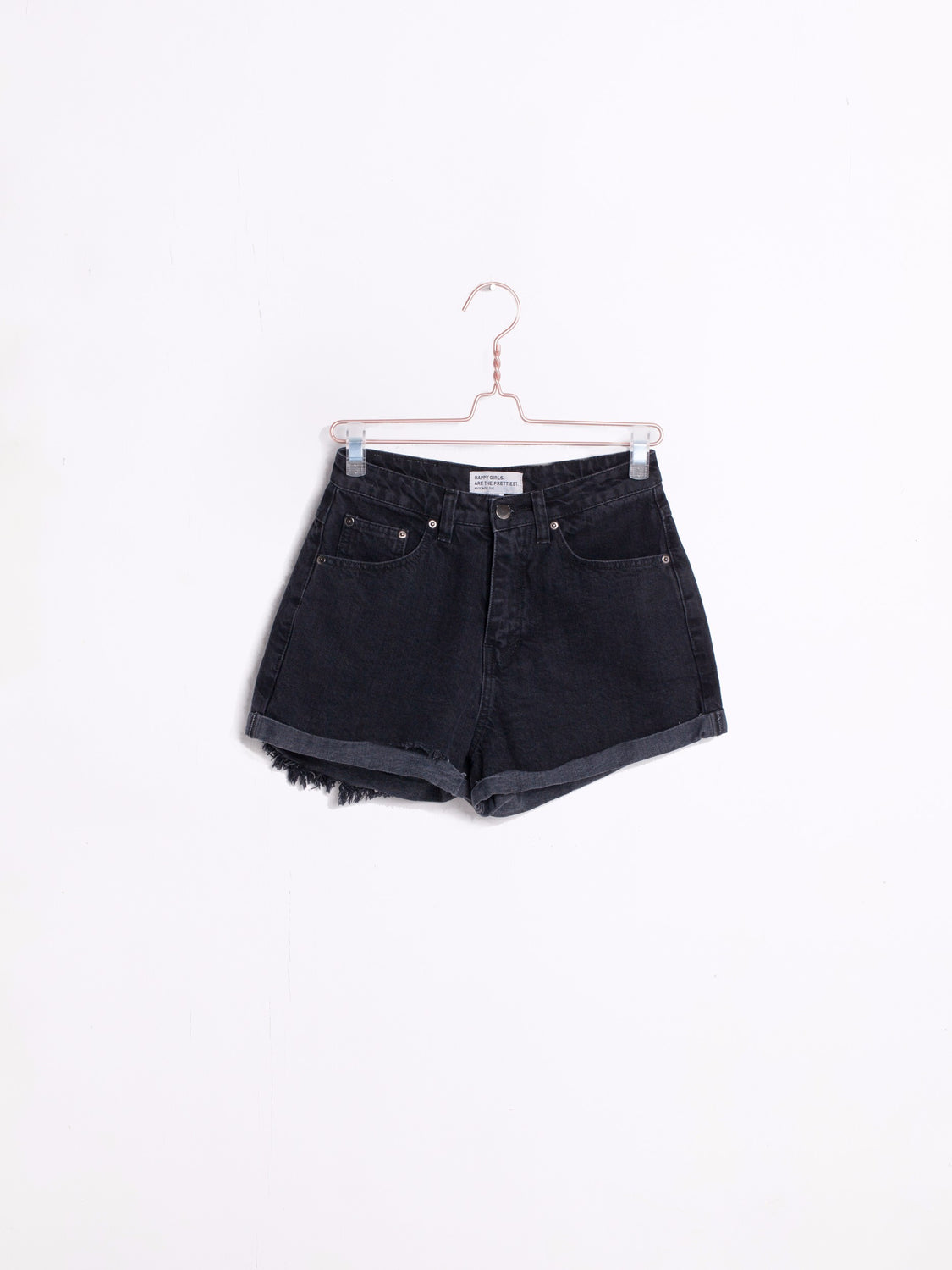THE ROLL UP SHORTS | BLACK