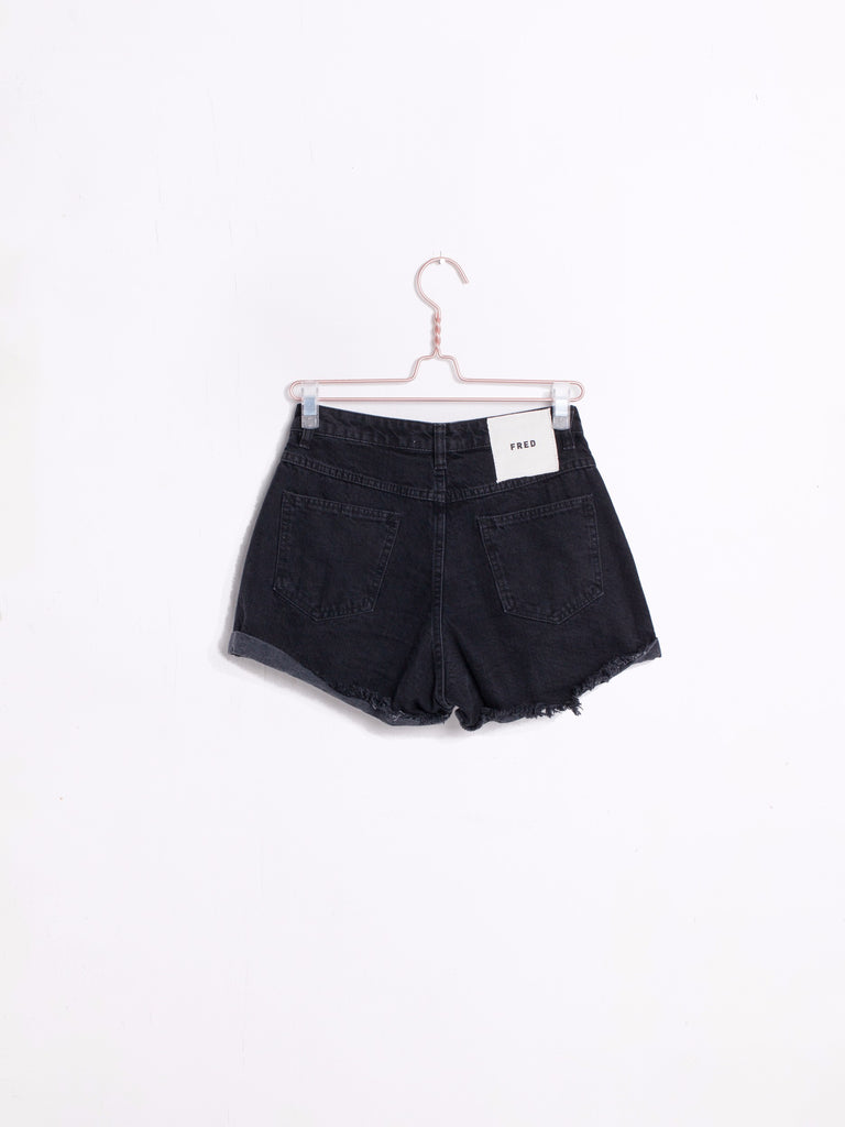 The Roll Up Shorts Black