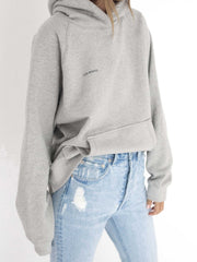 THE BASIC HOODIE MISTY GREY