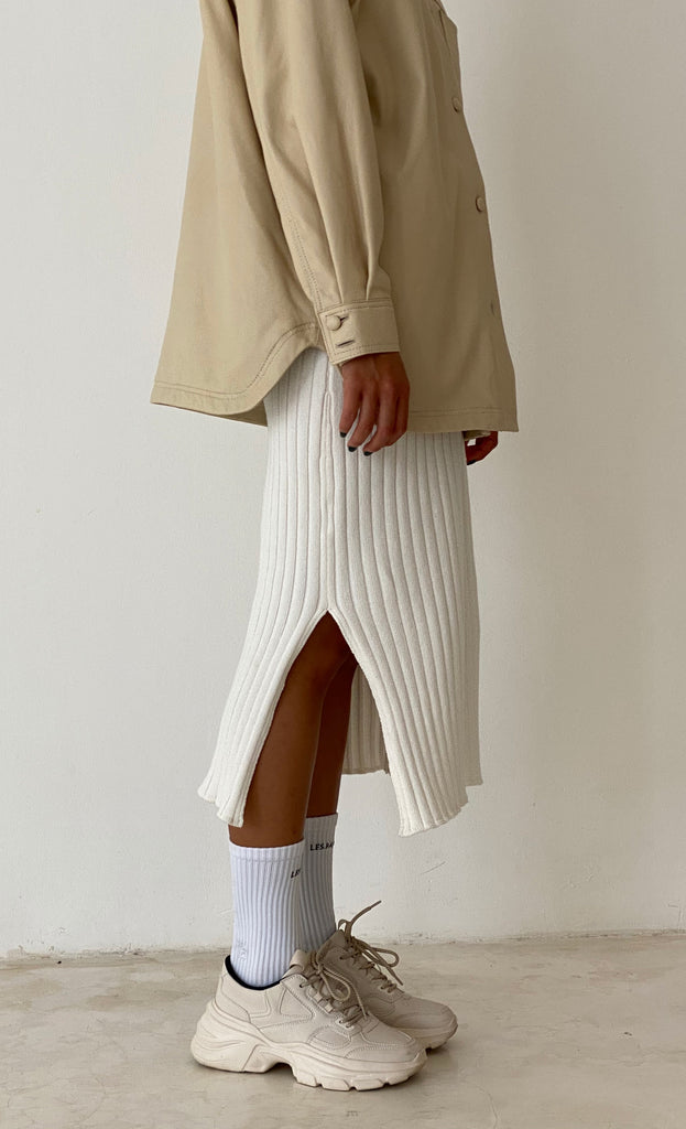 THE KNIT SKIRT CREAM