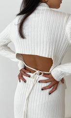 THE OPEN BACK KNIT CREAM