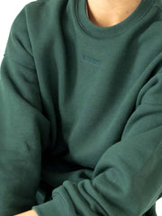 THE BASIC CREWNECK DARK GREEN