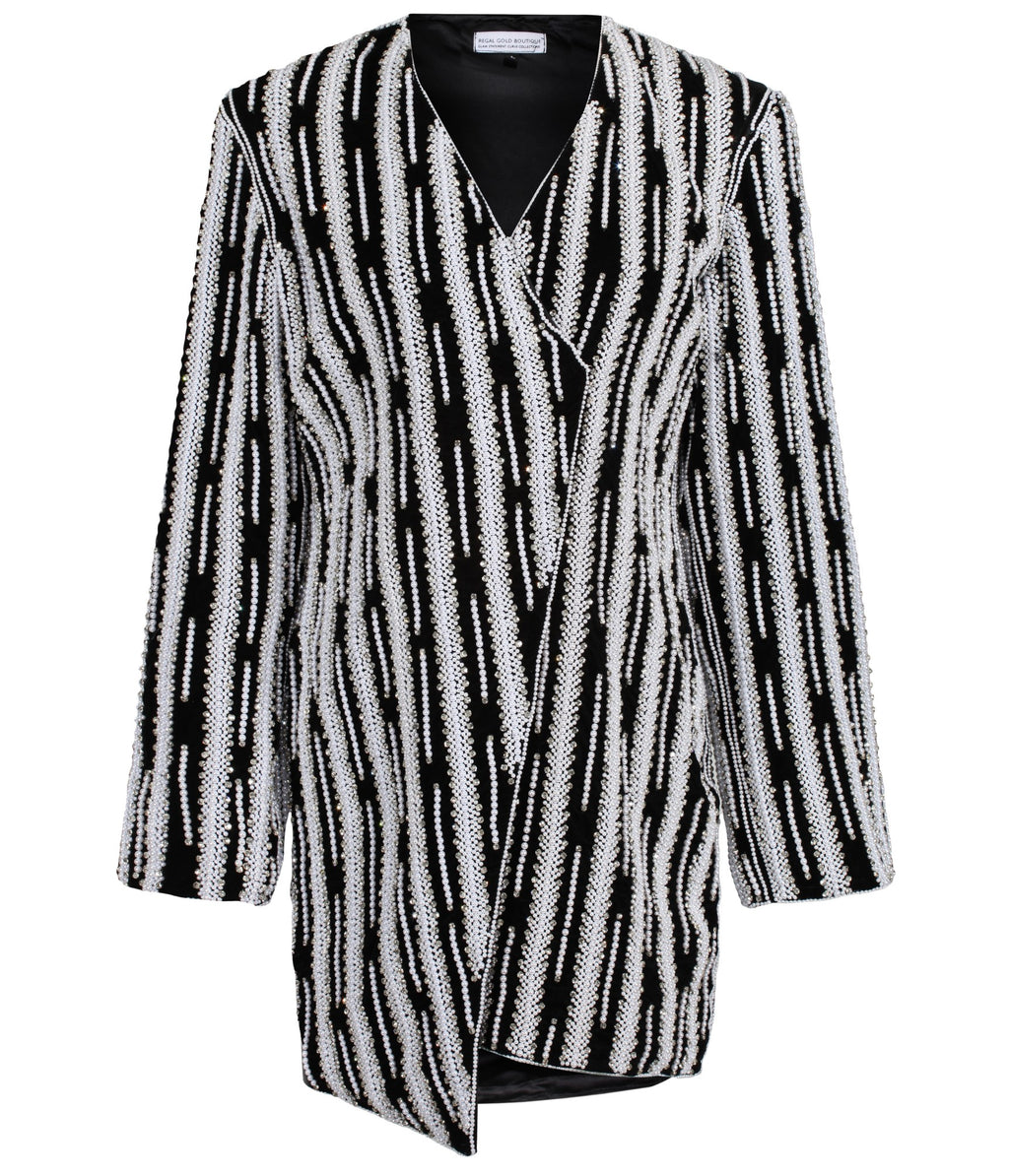 Glacier B/W Blazer Dress