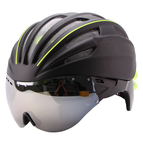280g Goggles Cycling Helmet Insect Net Bicycle Helmet With Lens Double Layers In-mold Bike Helmet 28 Vents Casco Ciclismo - Oleevia's