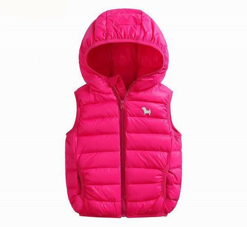 2-9Years kids vest girl boy waistcoat kids boys 7 Solid Color Boy Winter Vest Down Feather Warm Children Vest Clothes SAILEROAD - Oleevia's
