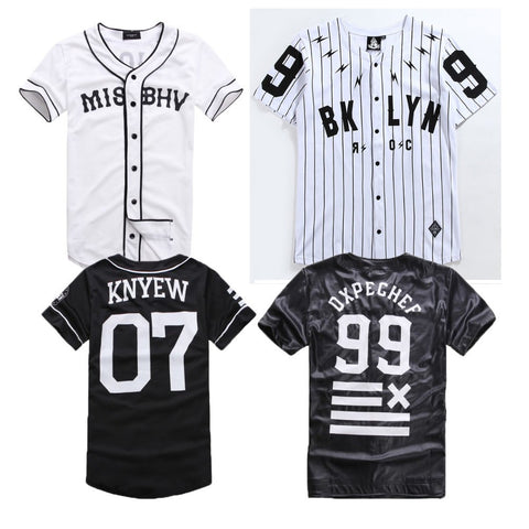 Last King MISBHV BROOKLYN 99 DXPECHEF KNYEW 07 Baseball Jersey Striped Hip Hop Brand Clothing Leather T-Shirts Men Women Tees - Oleevia's