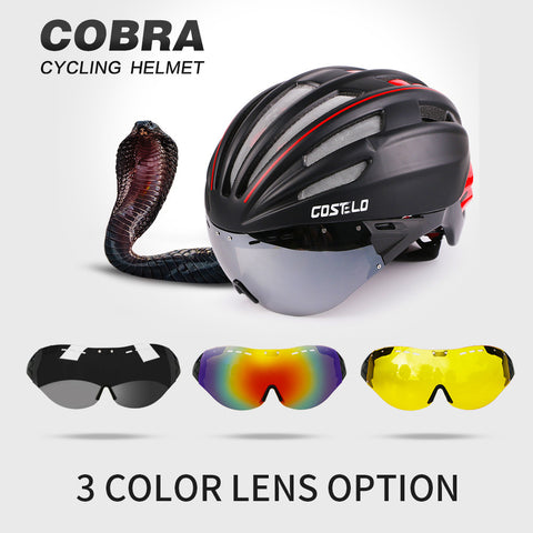 2016 Costelo Cycling Helmet 4 Colors MTB Road Bike Helmet Bicycle Helmet Speed Airo RS Ciclismo Goggles mountain super price - Oleevia's