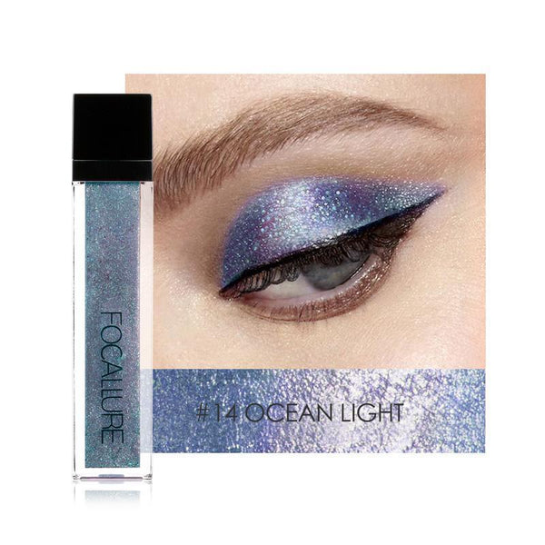 Glitter Matallic Lichid Ocean Light FOCALLURE 14