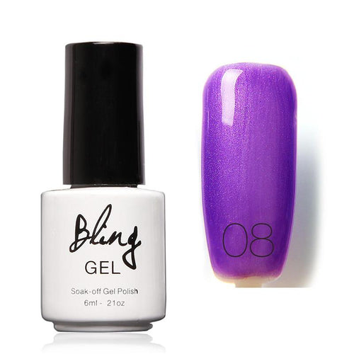 Oja Semipermanenta Bling By FOCALLURE - 6ml - Purple - 08