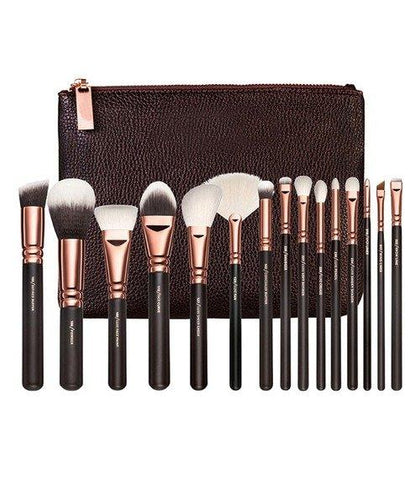 Set 15 Pensule Makeup Brown Gold