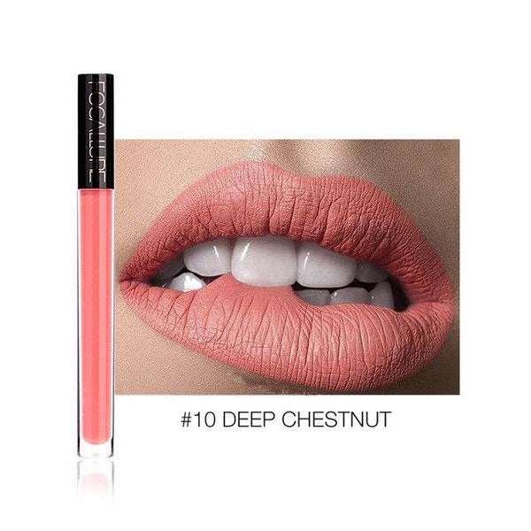 Ruj Lichid Waterproof Deep Chestnut FOCALLURE 10