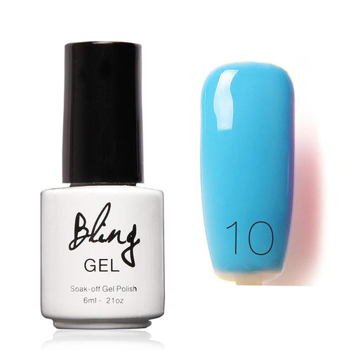 Oja Semipermanenta Bling By FOCALLURE - 6ml - Blue - 10