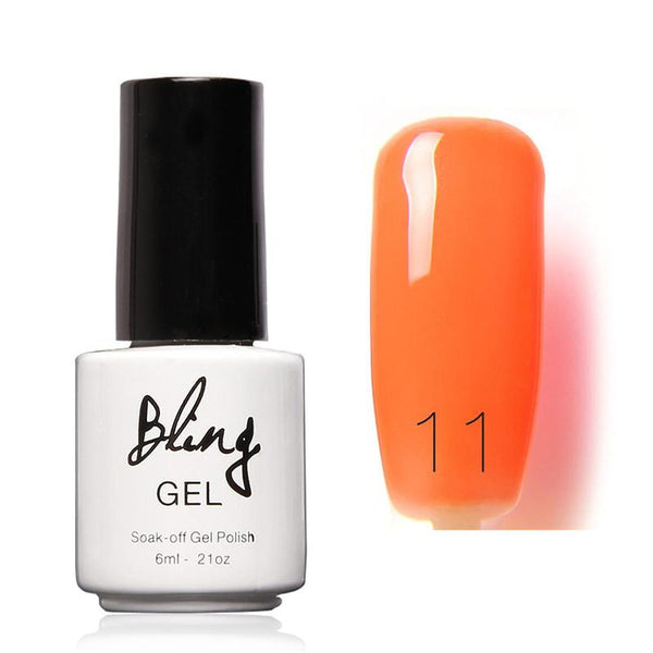 Oja Semipermanenta Bling By FOCALLURE - 6ml - Orange - 11