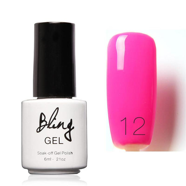 Oja Semipermanenta Bling By FOCALLURE - 6ml - Pink - 12