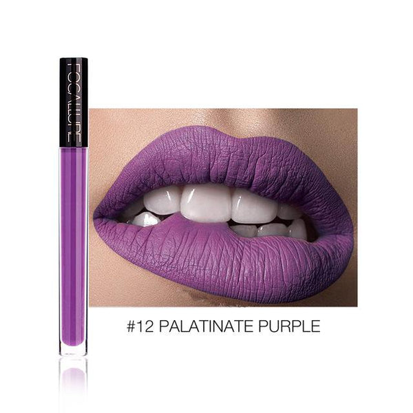Ruj Lichid Waterproof Palatinate Purple FOCALLURE 12