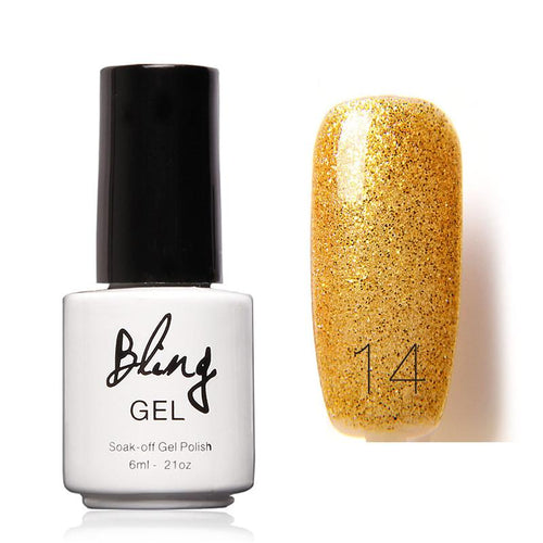 Oja Semipermanenta Bling By FOCALLURE - 6ml - Yellow - 14