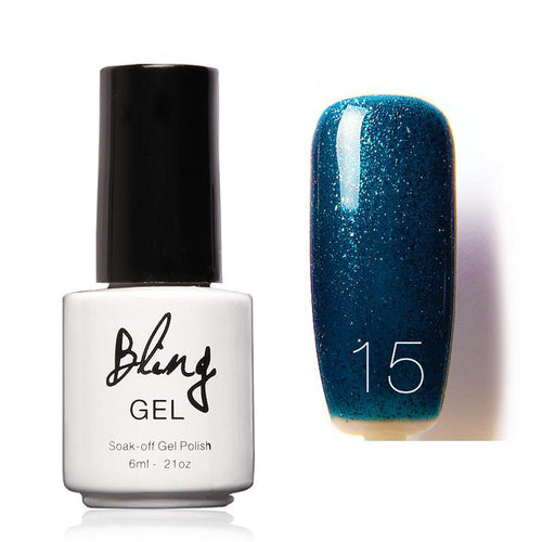 Oja Semipermanenta Bling By FOCALLURE - 6ml - Dark Blue - 15