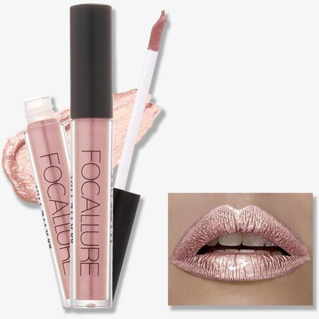 Set 3 Lip Gloss-uri Nude FOCALLURE