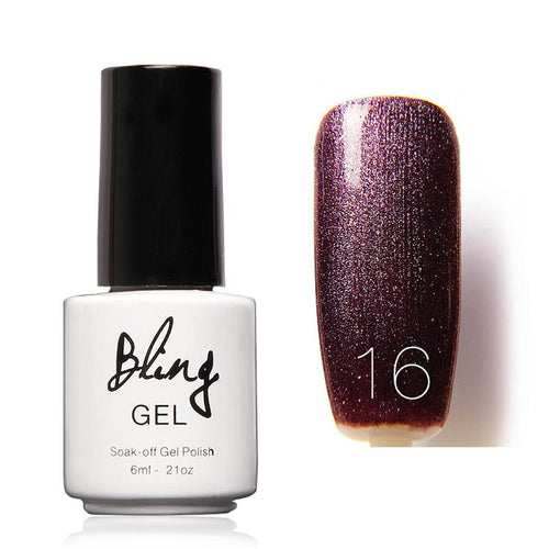 Oja Semipermanenta Bling By FOCALLURE - 6ml - Dark Purple - 16