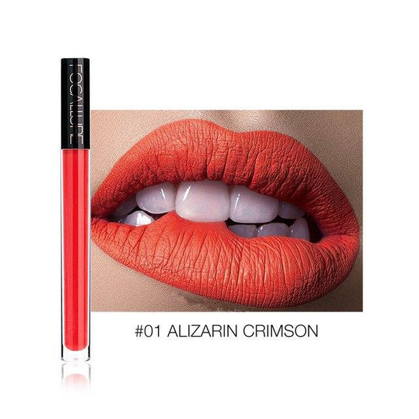 Ruj Lichid Waterproof Alizarin Crimson FOCALLURE 01