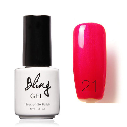 Oja Semipermanenta Bling By FOCALLURE - 6ml - Red Pink - 21