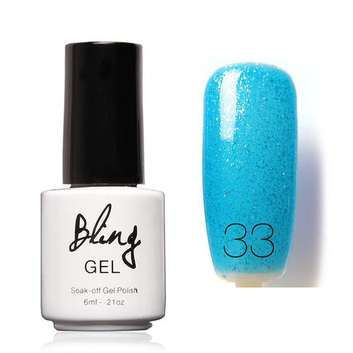 Oja Semipermanenta Bling By FOCALLURE - 6ml - Blue T - 33
