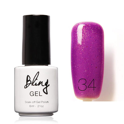 Oja Semipermanenta Bling By FOCALLURE - 6ml - Purple Smile - 34