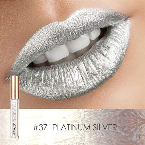 Ruj Waterproof Platinum Silver FOCALLURE 37