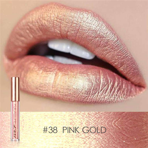 Ruj Waterproof Pink Gold FOCALLURE 38