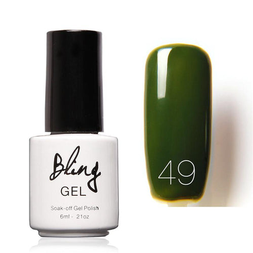 Oja Semipermanenta Bling By FOCALLURE - 6ml - Green Dark - 49