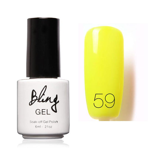 Oja Semipermanenta Bling By FOCALLURE - 6ml - Yellow Shinny - 59