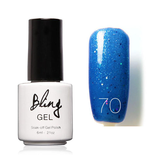 Oja Semipermanenta Bling By FOCALLURE - 6ml - Blue Moschino - 70