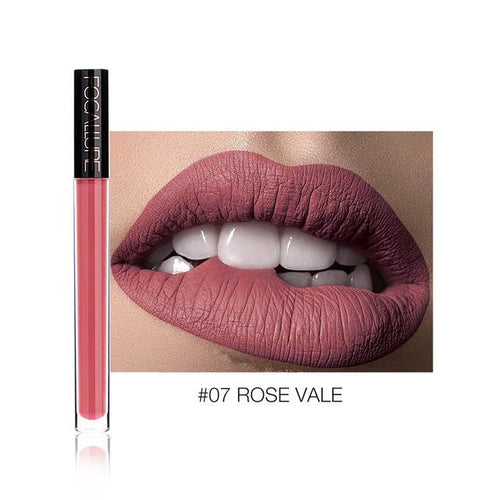 Ruj Lichid Waterproof Rose Vale FOCALLURE 07