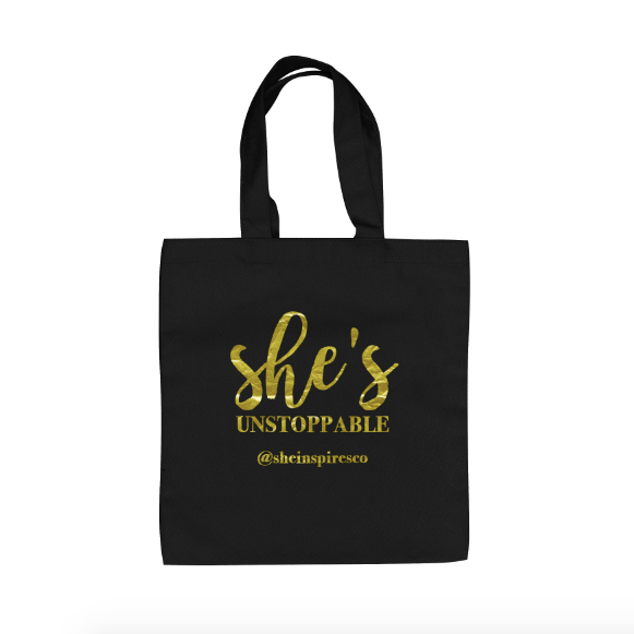 she s unstoppable tote bag sheinspirescollective