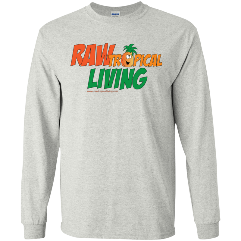 Raw Tropical Living Logo LS Ultra Cotton T-Shirt