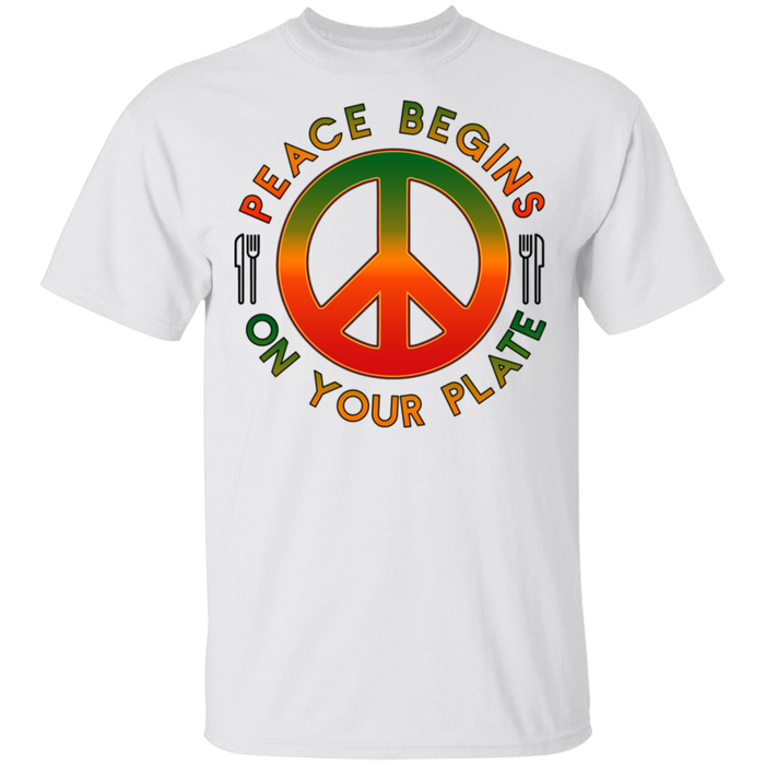 Peace Begins on Your Plate Ultra Cotton T-Shirt