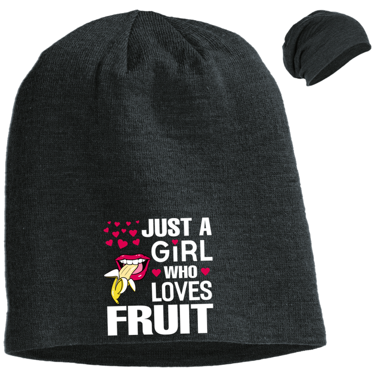 Just a Girl Who Loves Fruit Slouch Beanie