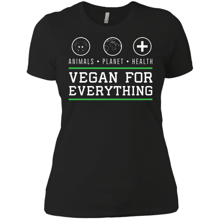 Vegan for Everything Next Level Ladies' Boyfriend T-Shirt