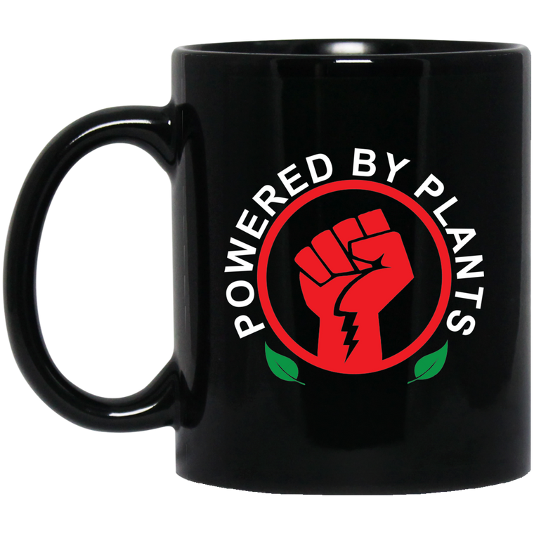 Powered By Plants 11 oz. Black Mug
