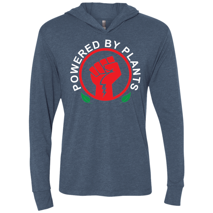 Powered by Plants Unisex Triblend LS Hooded T-Shirt