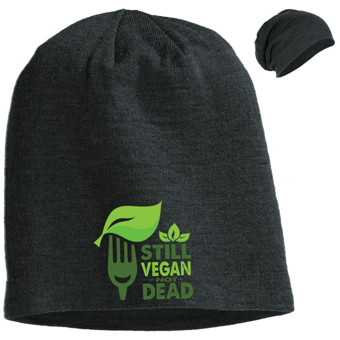 Still Vegan Not Dead District Slouch Beanie