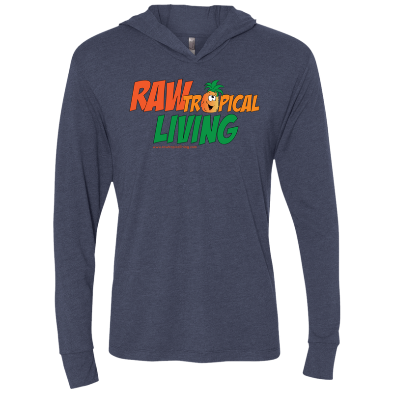 Raw Tropical Living Unisex Triblend LS Hooded T-Shirt