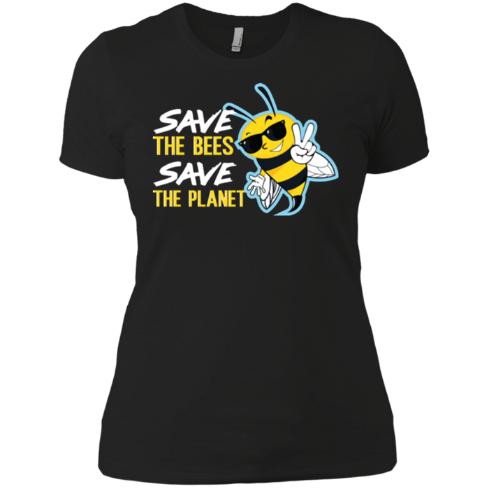 Save the Bees, Save the Planet Ladies' Boyfriend T-Shirt